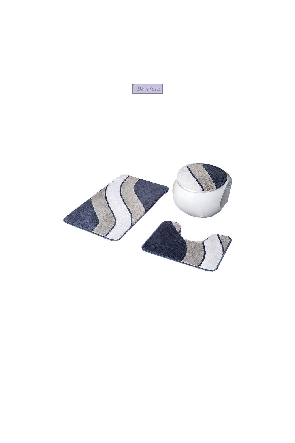 Koupelnové koberečky Sada/ VARIANT 3 kusy různé barvy 50x70cm / 50x35cm/ 46x48cm