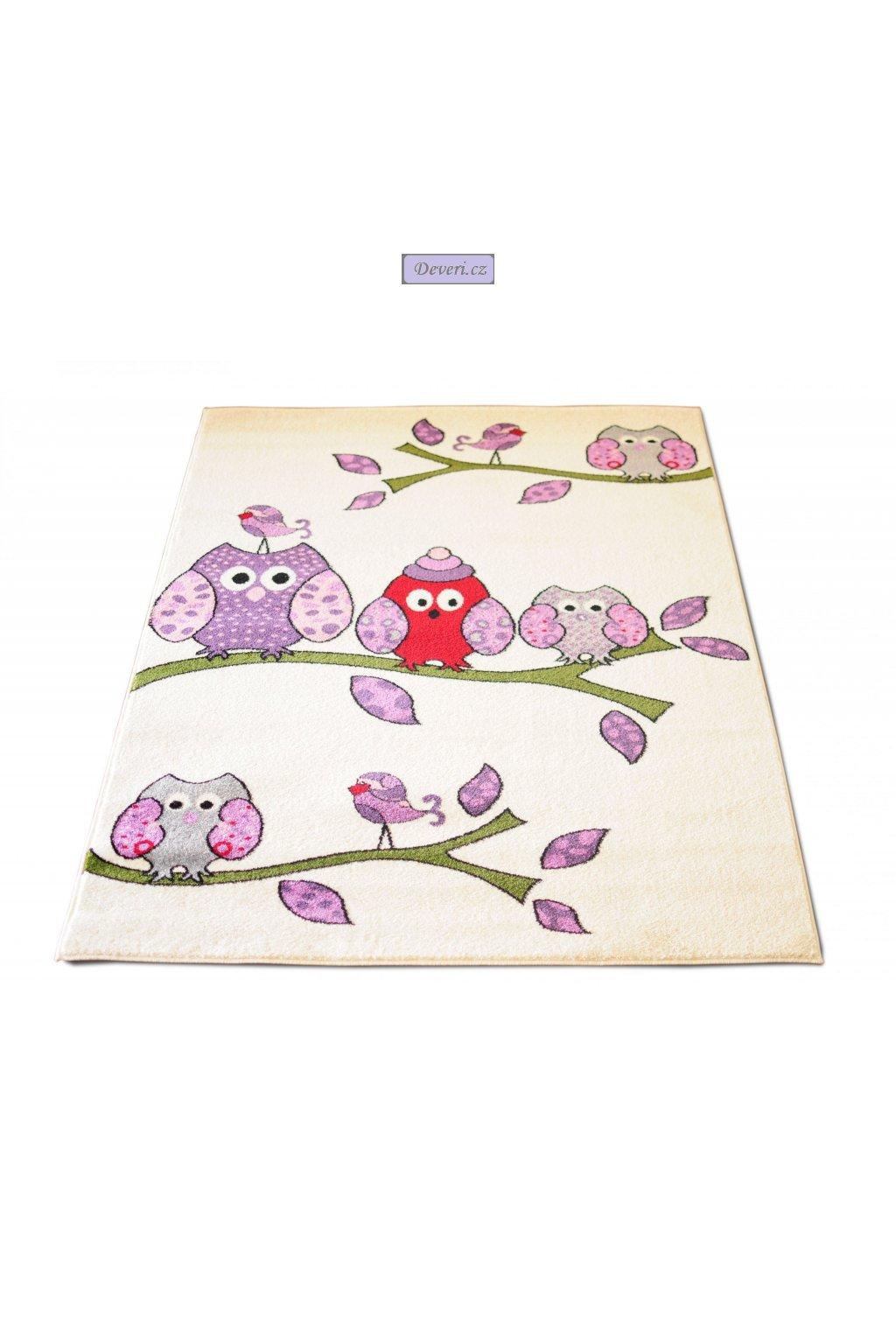 Dywan Kremowa Sowa 160x220 idealny dla dziecka