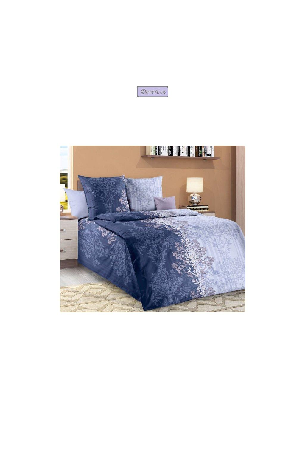Bavlněné povlečení Samanta 140x200cm70x90cm modré