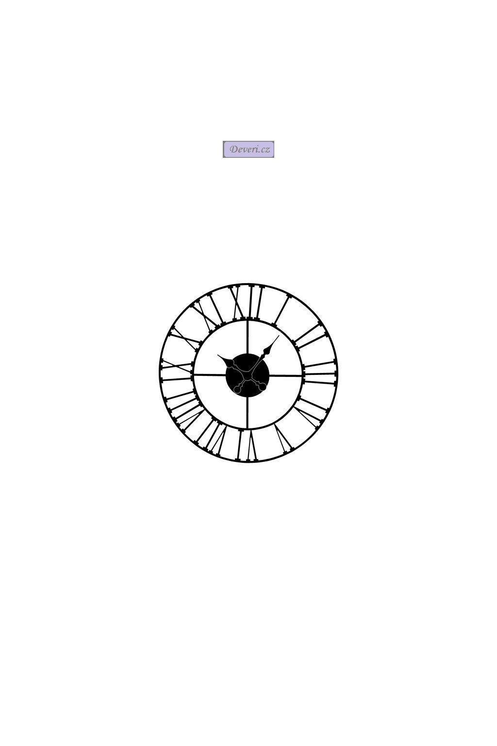 CICHY Metalowy zegar ścienny LOFT RETRO 50 CM 609
