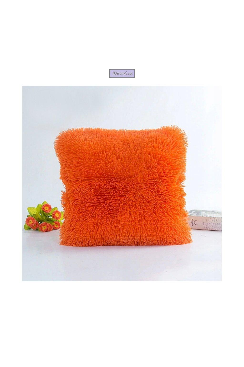Plyšový povlak oranžový