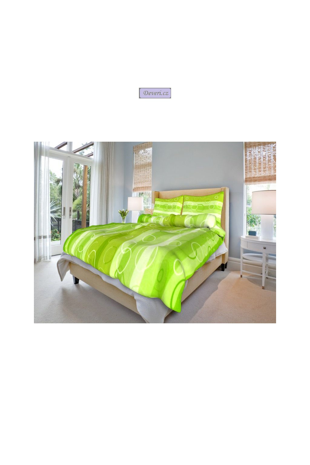 bavlnene povleceni kola zelene 0