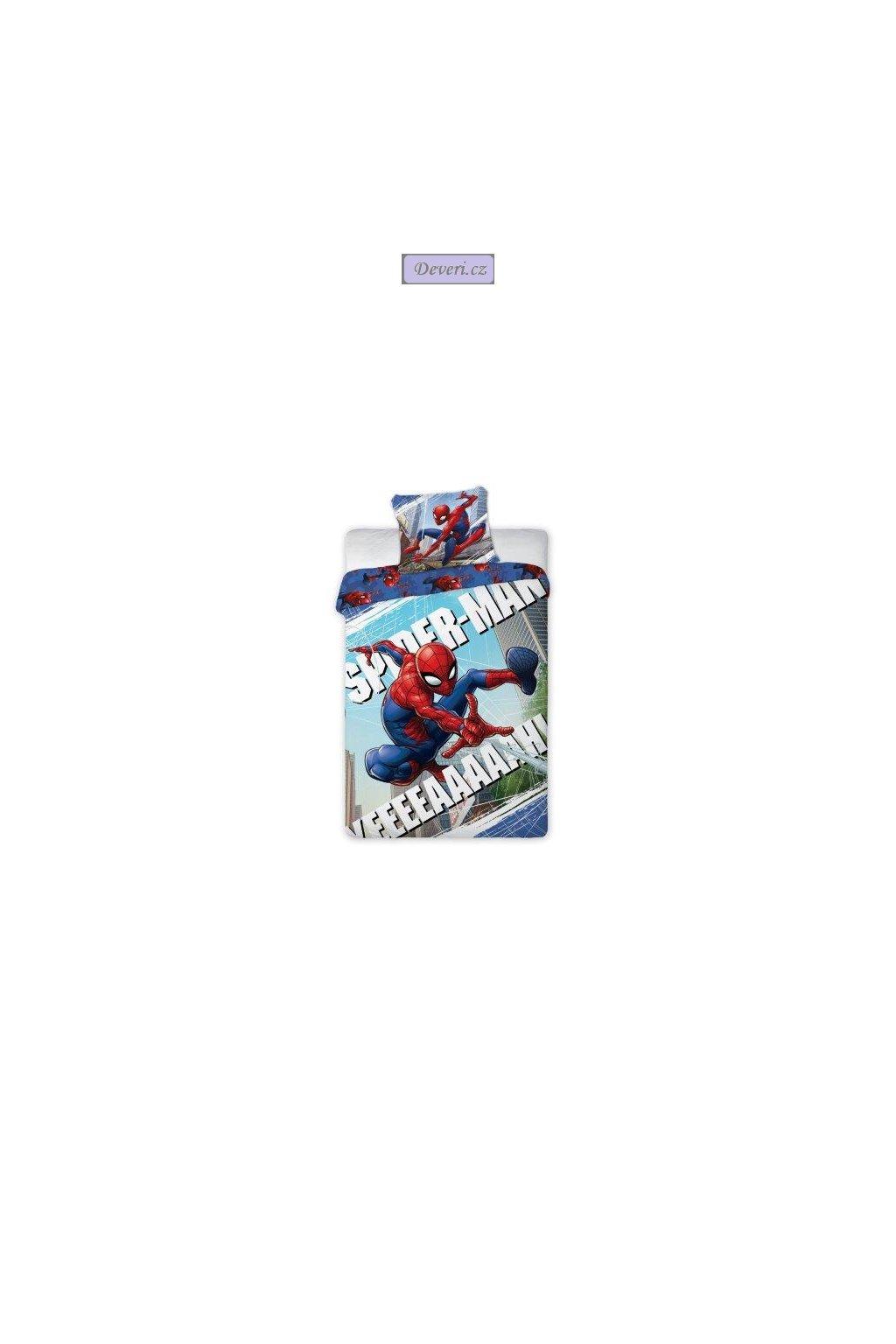 Pościel 140x200 SPIDERMAN człowiek pająk BOHATER