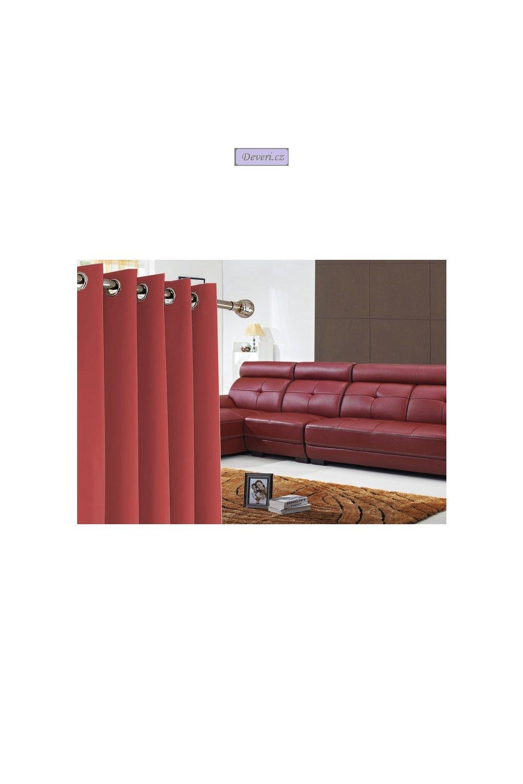 Hotový hrubý závěs Radek 140x250cm na kolečkách / kroužcích různé barvy