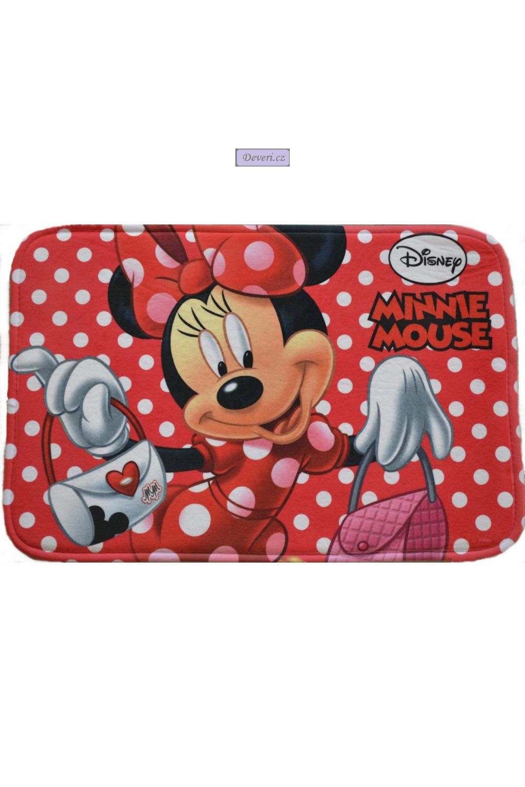 Dětský kusový koberec Minnie Mouse Myška 40x60cm červený