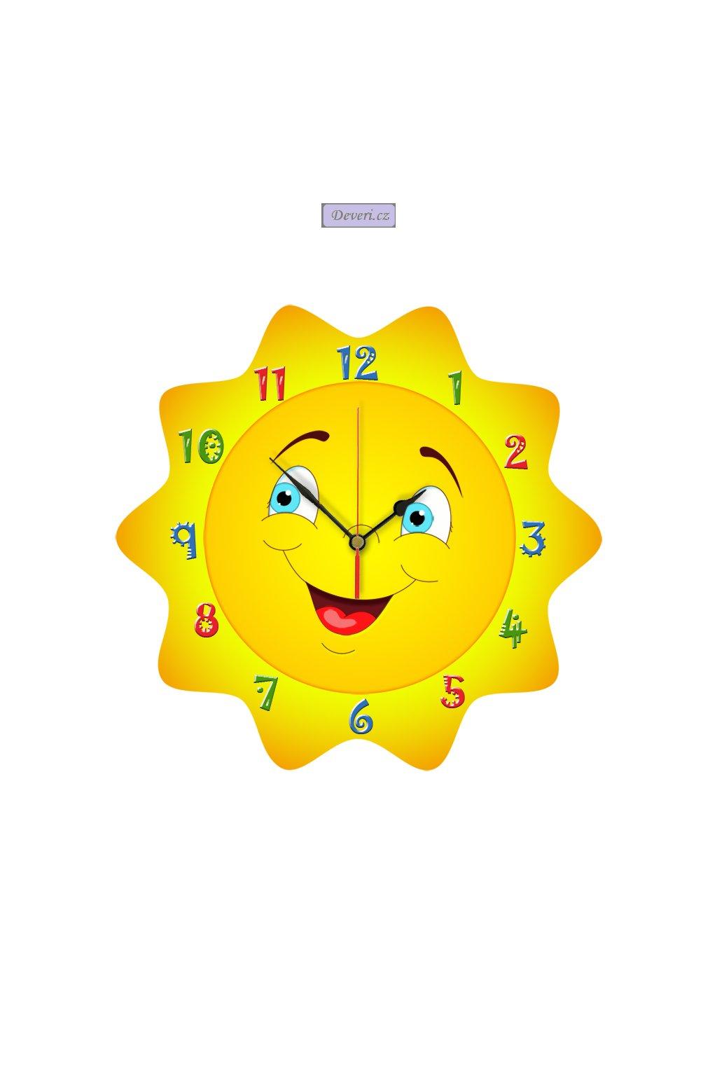 SŁONECZKO drewniany zegar CICHY MECHANIZM1