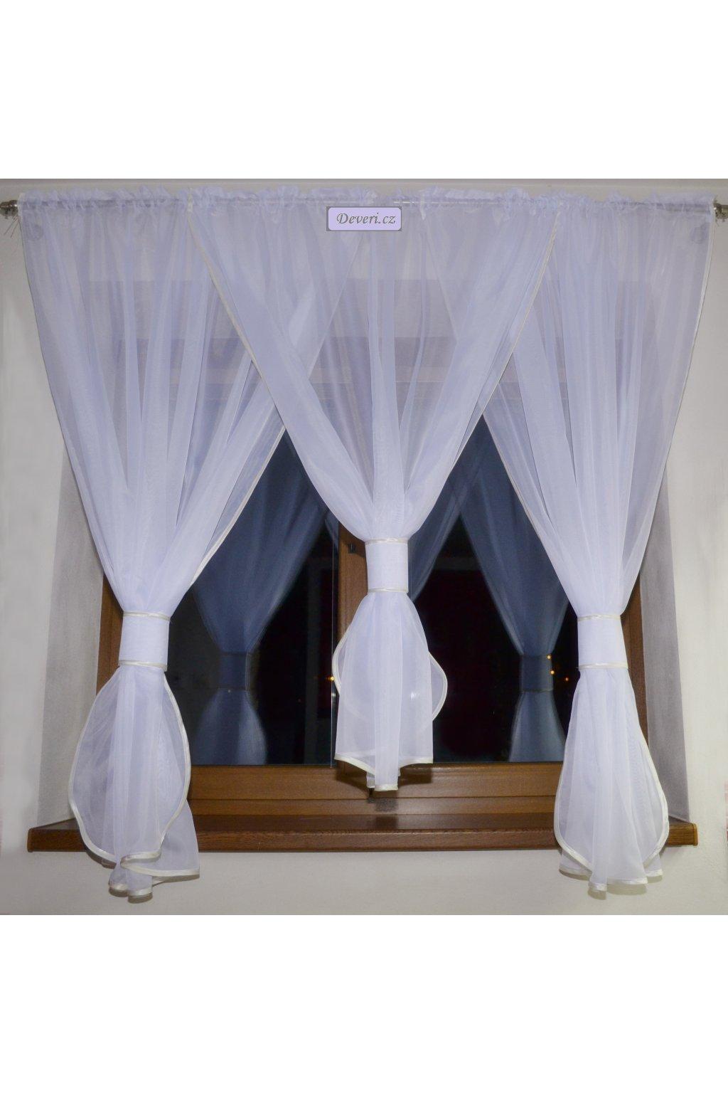 Záclona Daniela2 voálová bílá 300x150cm