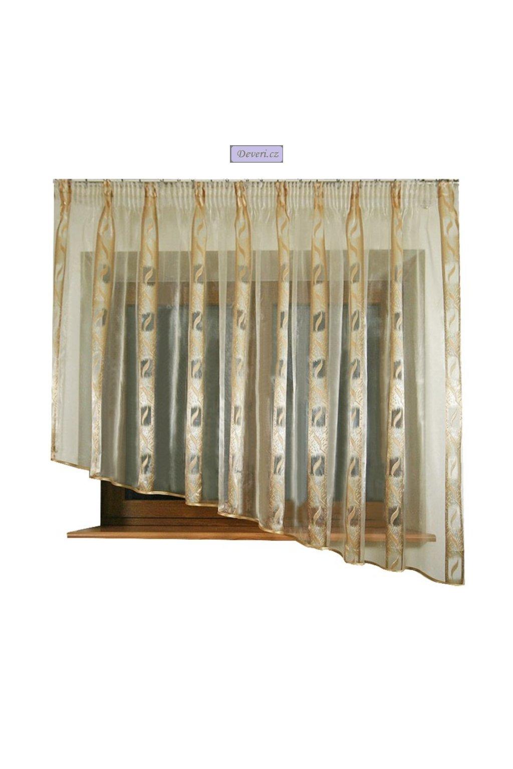 Hotová organzová záclona Gobi 320x170cm různé barvy