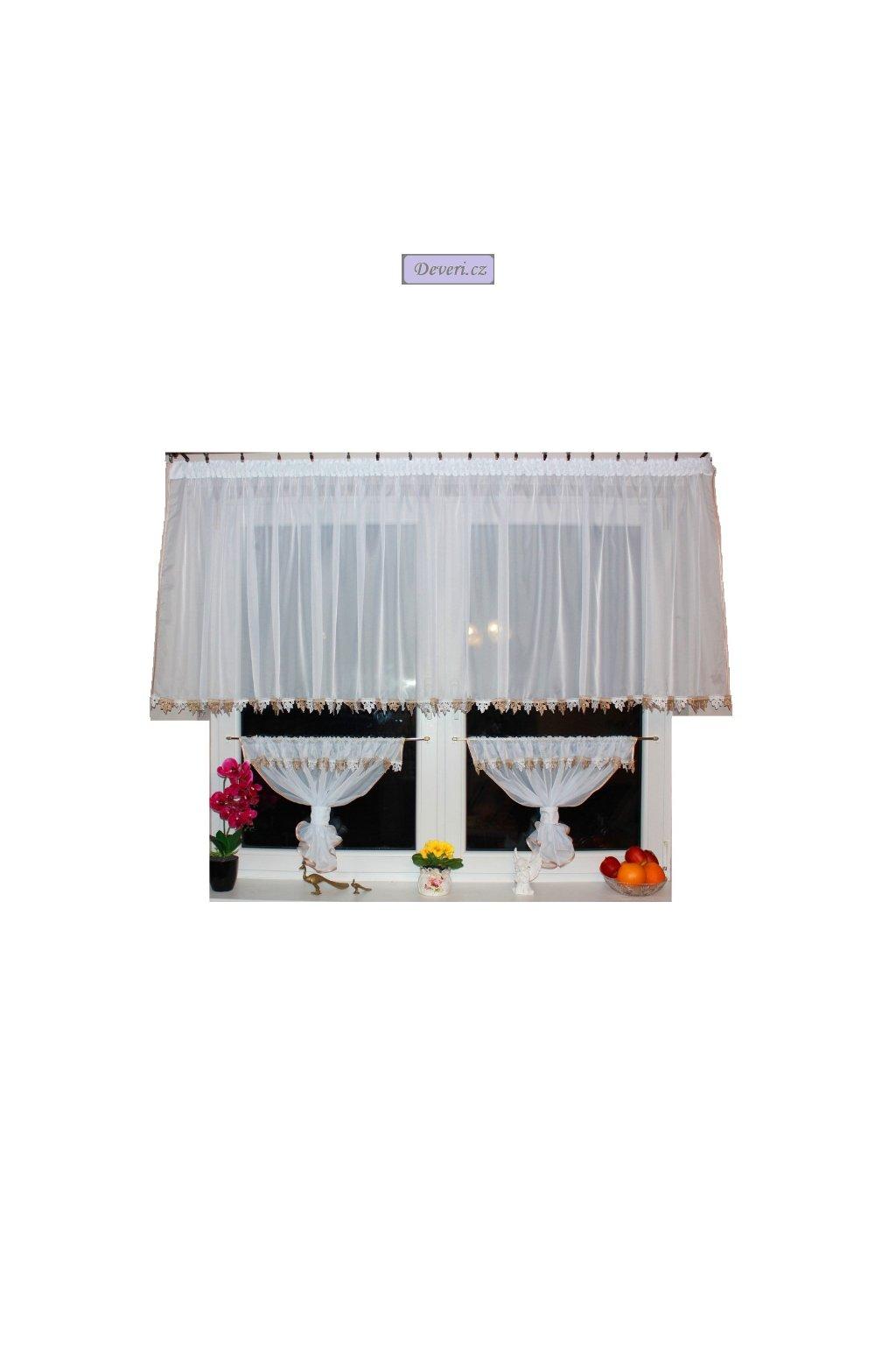 Hotová voálová záclona Naty 300x100 cm