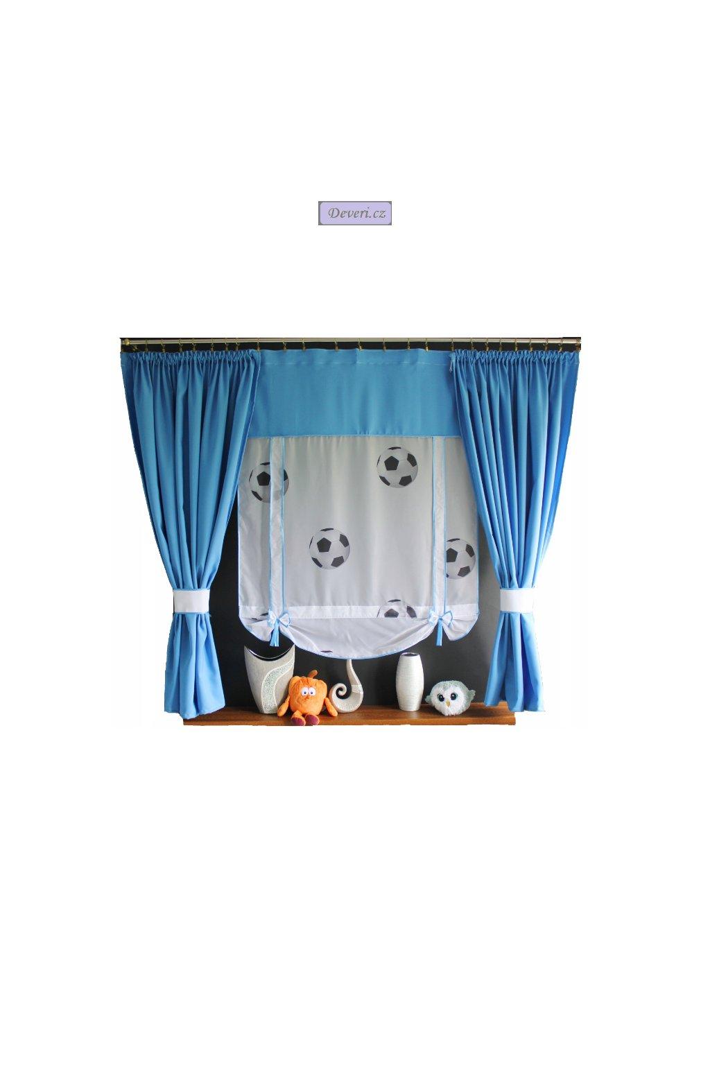 Dětská hotová záclona motiv Fotbal 150x150cm