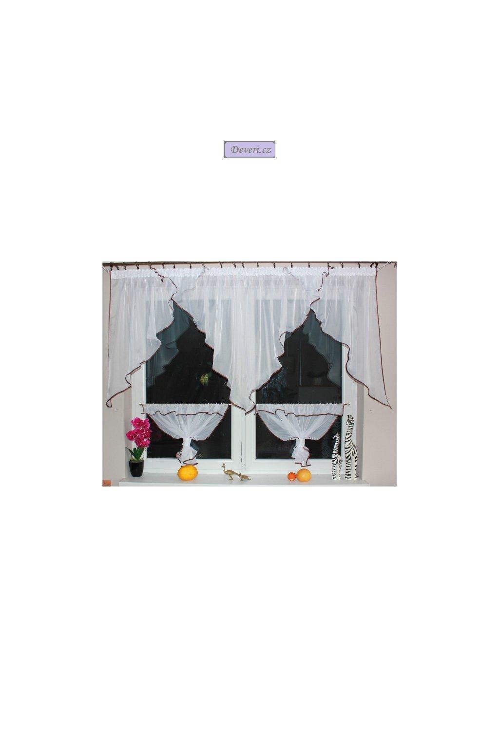 Hotová voálová záclona Merida 300x150cm různé barvy