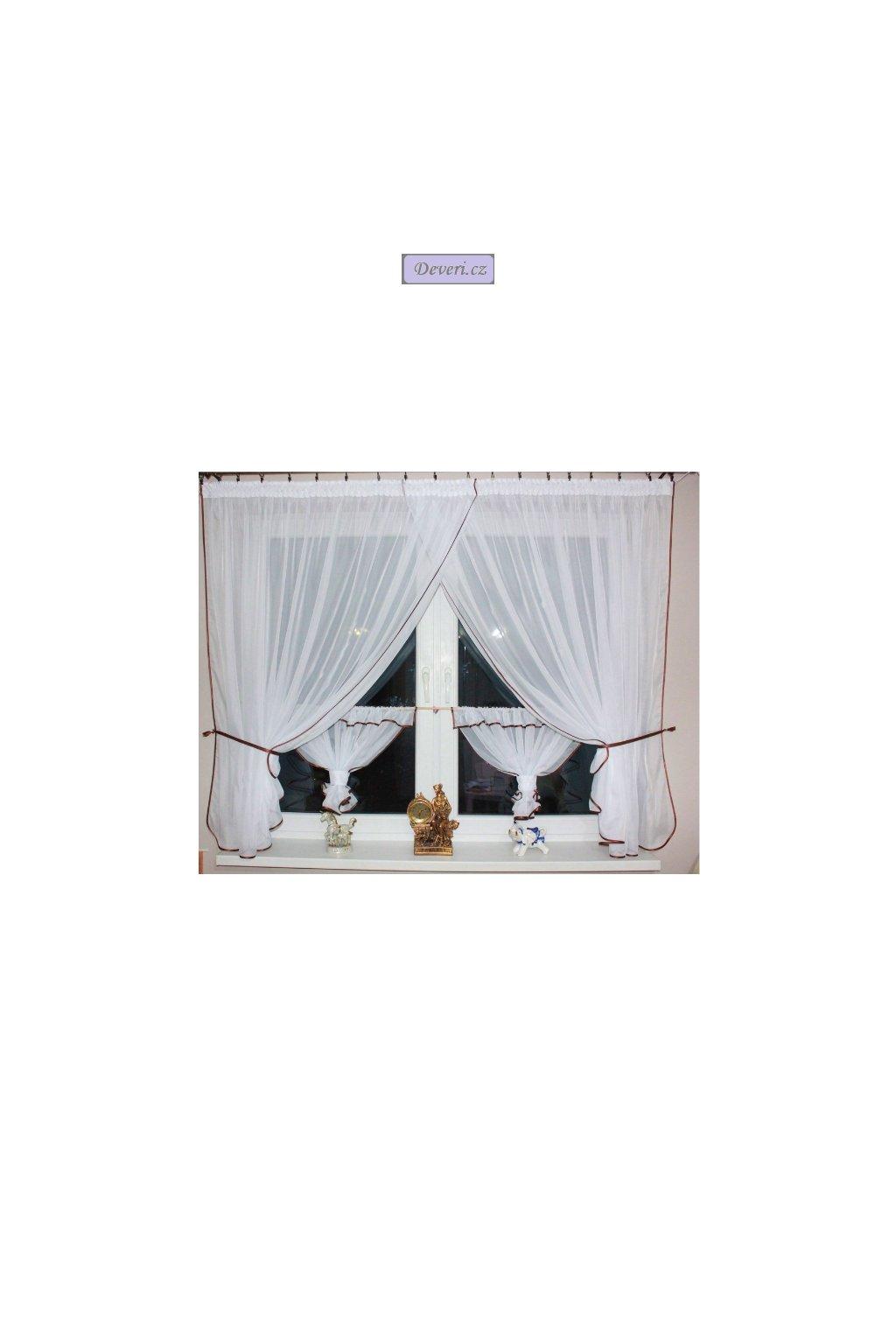 Hotová voálová záclona Bianca 300x145cm různé barvy