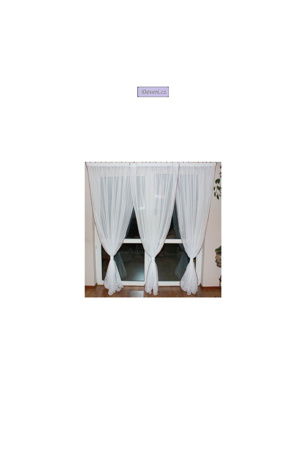 Hotová balkónová záclona Amanda 520x230cm různé barvy