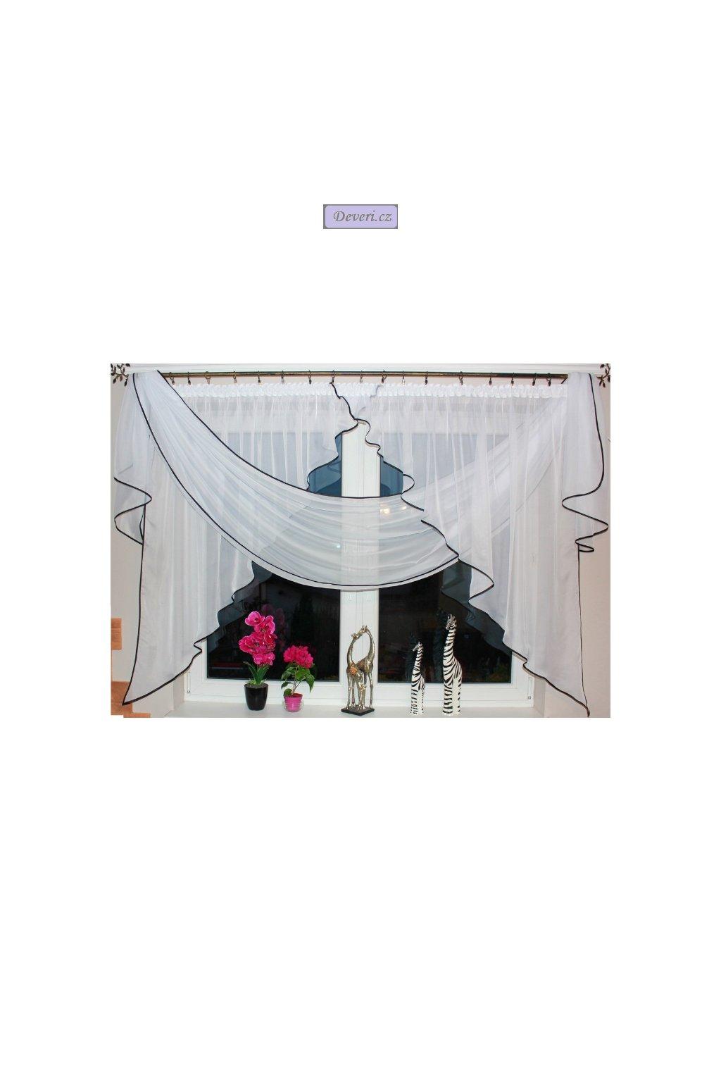 Hotová voálová záclona Lara 400x145cm