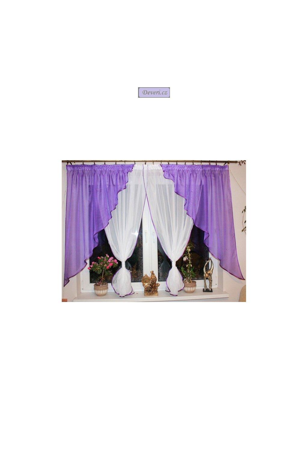 Hotová voálová záclona Melisa 400x145cm
