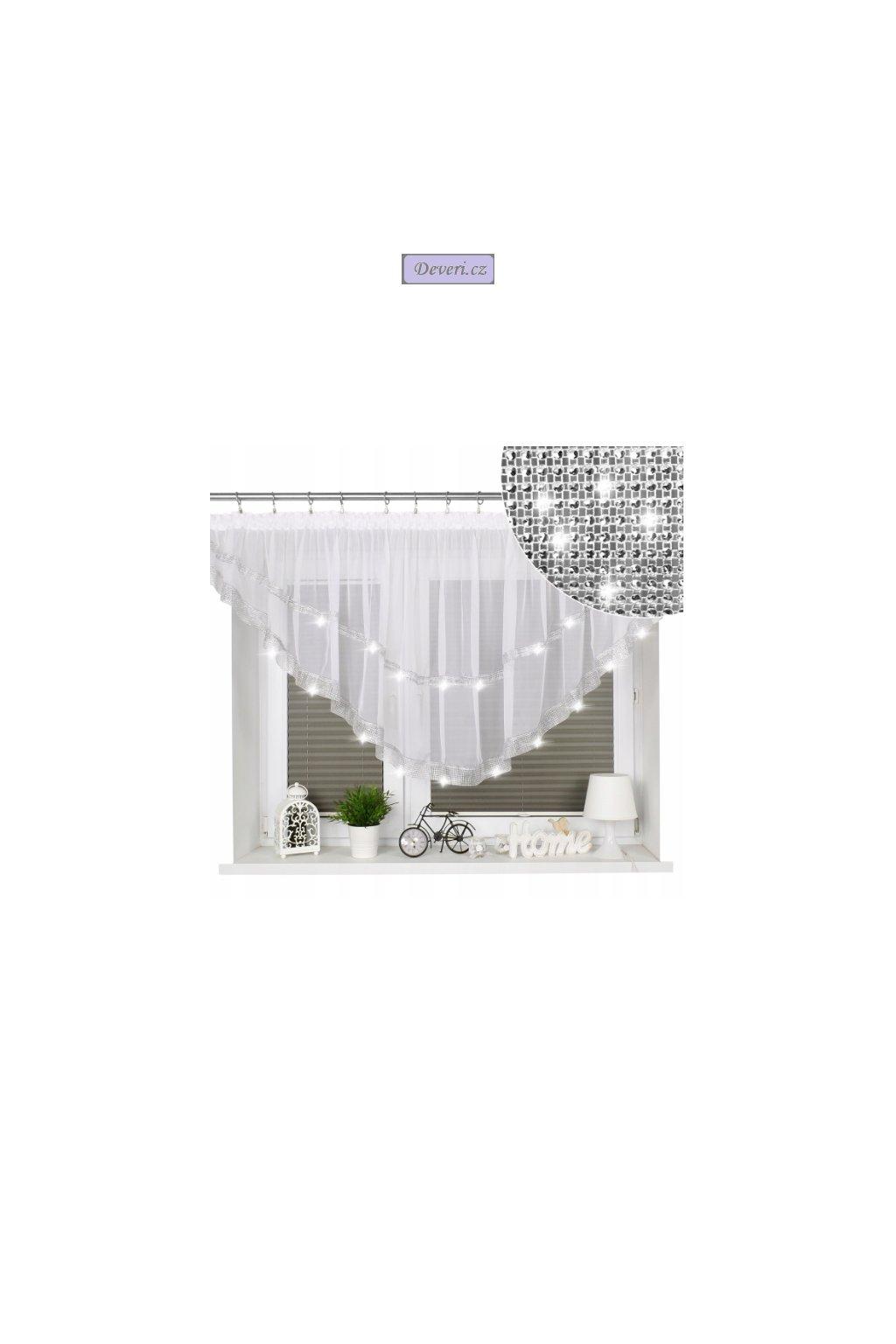 1. hotová záclona 85x380 cm