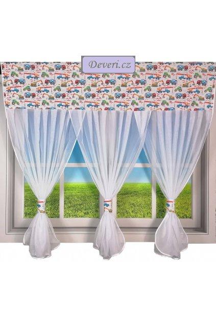 Dětská hotová voálová záclona motýlci 150x300cm bílá