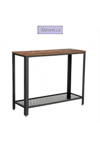 Konzolový stolek 101,5x35x80 cm rustikální hnědá