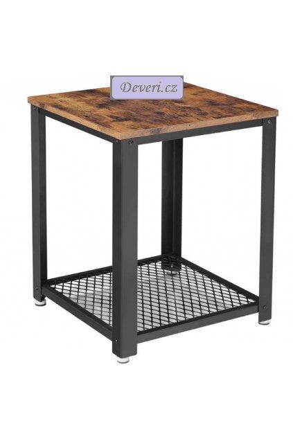 Čtvercový stolek 45x45x55 cm rustikální hnědá