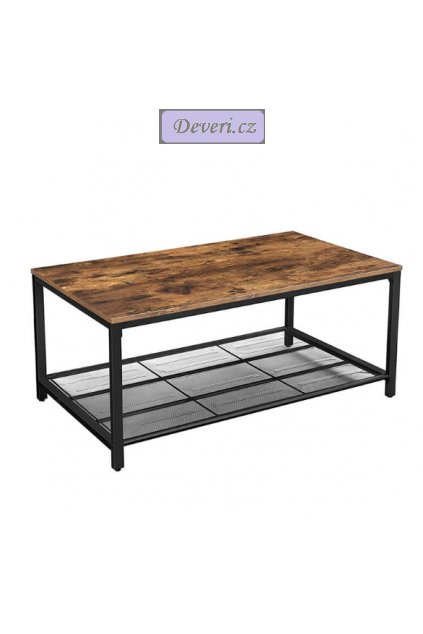 Vintage konferenční stolek 106x60x45 cm rustikální hnědá
