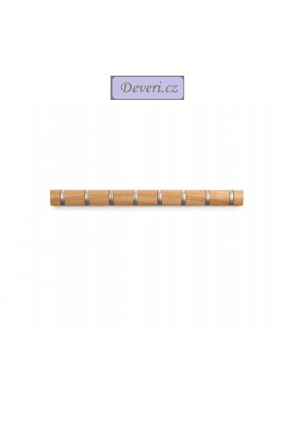 Dřevěný nástěnný věšák 81x8cm světlý buk