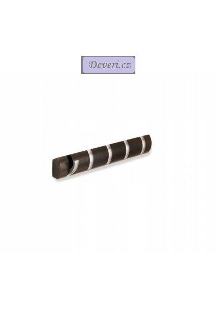 Dřevěný nástěnný věšák 51x8cm hnědý