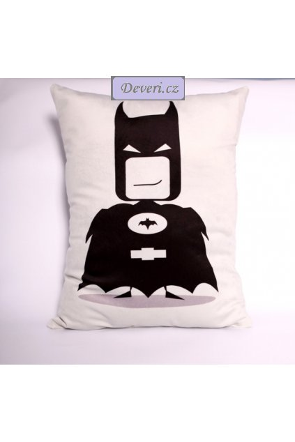 Dekorační polštářek Batman 31x45cm bílý