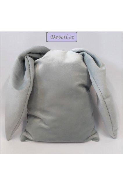 Dekorační polštářek Ouška 36x27cm šedý