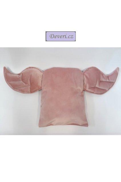 Dekorační polštářek Křídla 34x72cm růžový