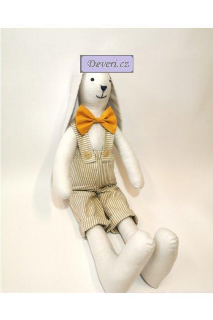 Maskot králíček Honzík 50 cm bílý
