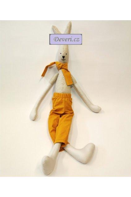 Maskot králíček Kubík 70 cm bílý