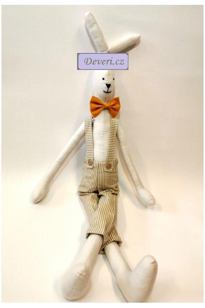 Maskot králíček Tomáš 70cm bílý