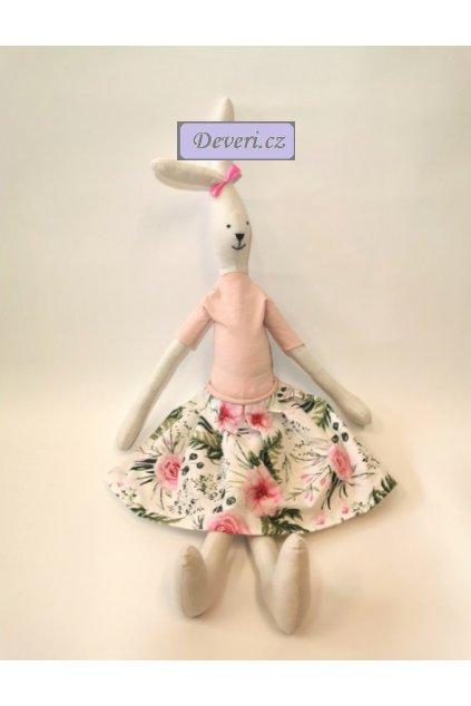 Maskot králíček Zuzanka 70 cm bílý