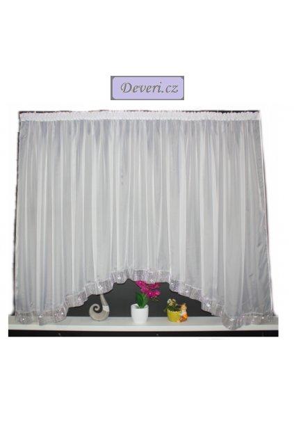 Oblouková záclona Kamila 400x150cm bílá