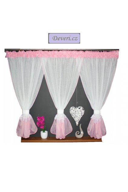 Záclona sable Bára 380x150cm růžová