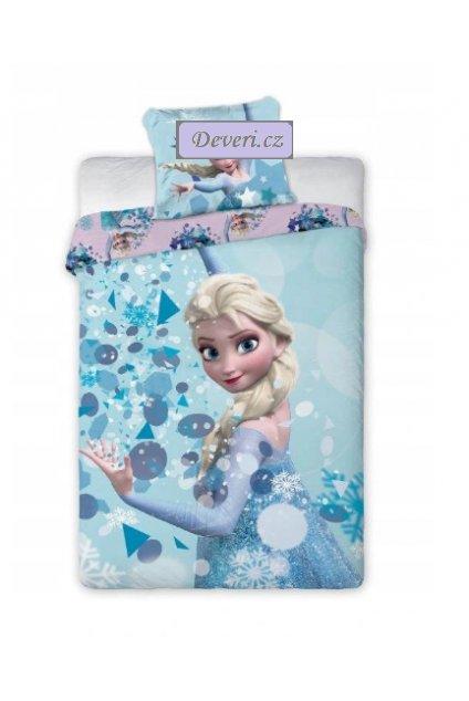 Dětské bavlněné licenční povlečení Elza Frozen 140x200cm modré