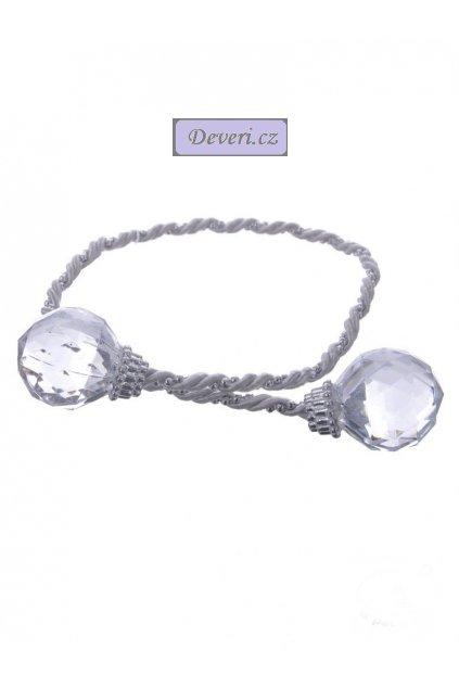 Srebrny sznurek do firan z akrylowymi kulkami 423cm YQR9055 2 [21450] 1200