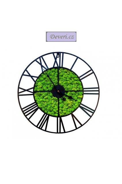 Retro hodiny dekorační mech 60cm černé (2)