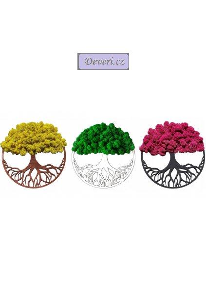Živý obraz 3 stromy s mechem 30 různé barvy (6)