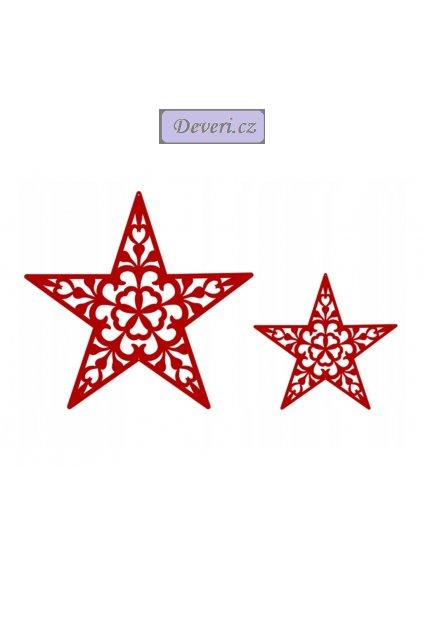 Žakárová vánoční záclona dárky 300x150cm bílá (2)