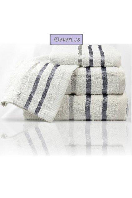 Sada bavlněných ručníků 4 kusy bílé (2)