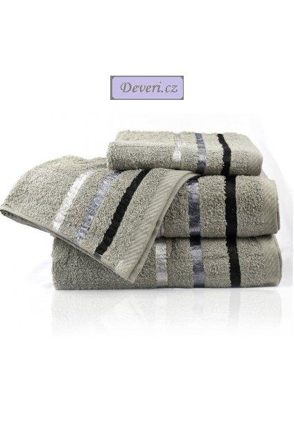 Sada bavlněných ručníků 4 kusy světle šedé (2)