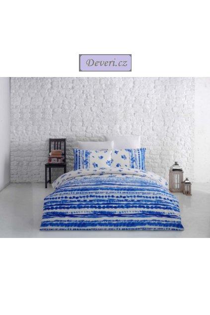 Bavlněné povlečení Kateřina 140x200cm70x90cm modré