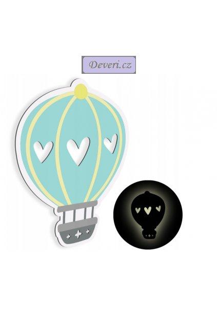 Noční lampička LED balón světle modrá