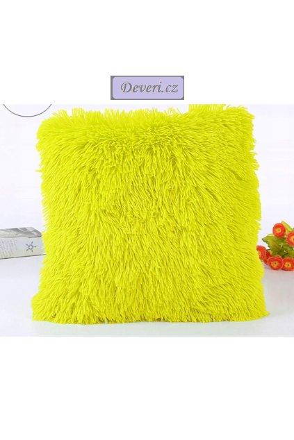 plyšový povlak žlutý