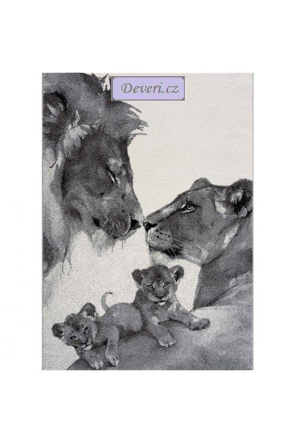 Dětský koberec lvi šedý různé rozměry (2)