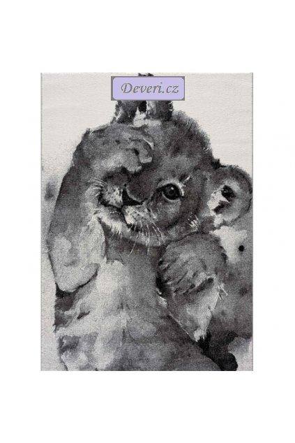 Dětský koberec lvíček šedý různé rozměry (1)