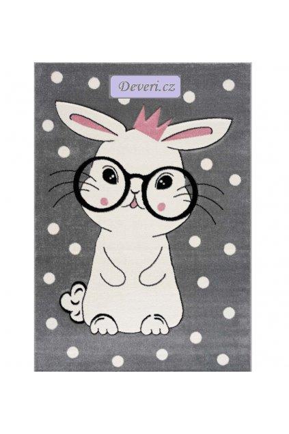 Dětský koberec králíček šedý různé rozměry (1)