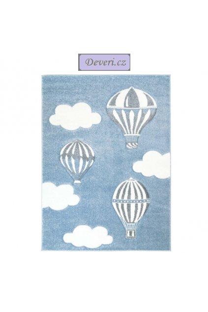 Dětský koberec balony modrý různé rozměry (1)