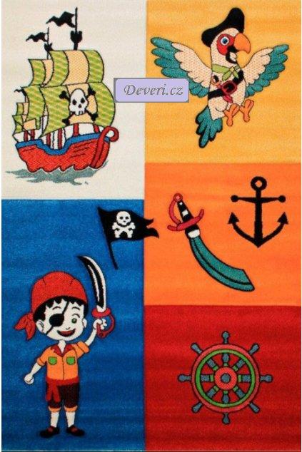 Dětský koberec pirát barevný 160x230cm (1)